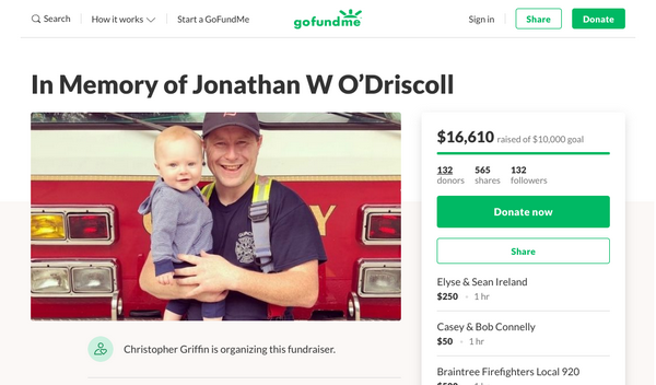 $16,000 Raised To Benefit Late Quincy Firefighter's Family