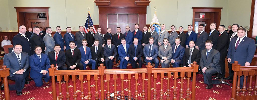 35 Quincy Fire Recruits Sworn In At City Hall Ceremony