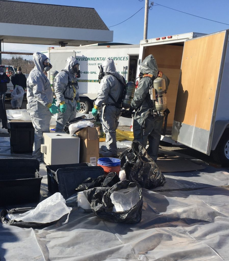 Quincy police and the DEA helped dismantle a pill-manufacturing operation based out of a trailer in Wollaston. Photo courtesy Quincy Police Department.